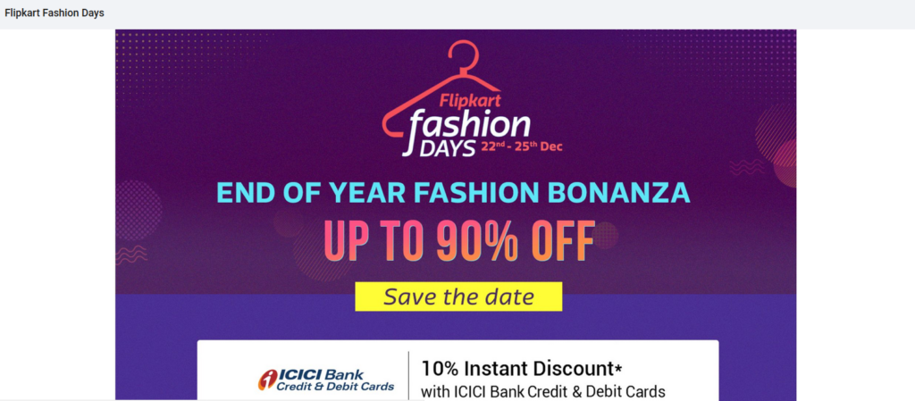 End Of Season Fashion Sale Bonaza Up to 90% Off 22 to 25 Dec 2018