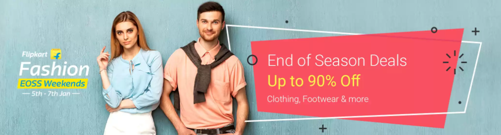 End of Seaon Deals Sale Upto 90% Off On Clothes and Footwear
