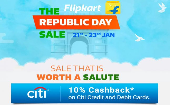 Flipkart Republic Day Sale Jan 21 to 23 January 2018