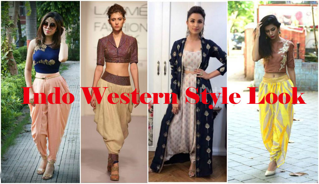 Indo Western Style Look For Women