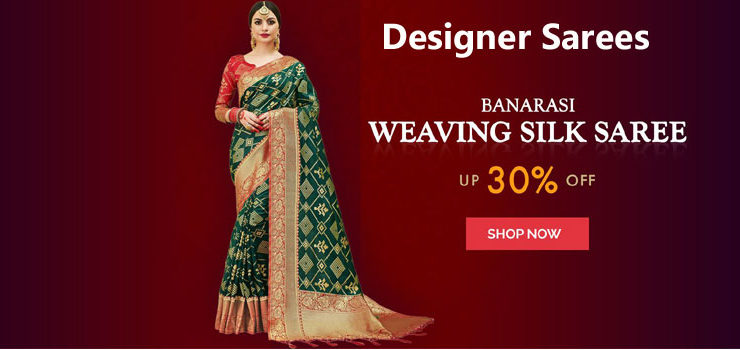 Traditional Designer Silk Sarees at Low Price