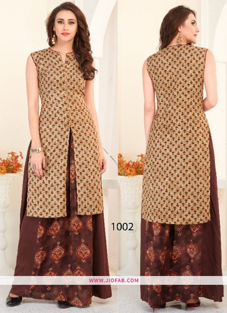 Heavy Rayon Print With Dyed VF Vol 10 Casual Kurti With Nice Bottom