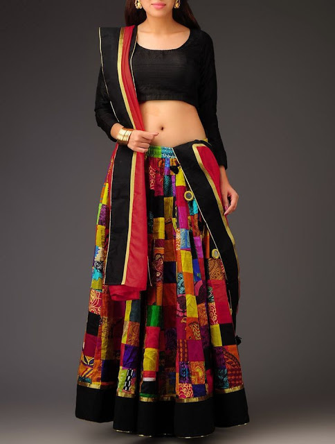 Block Printed Embellished Chaniya Choli for Dandiya