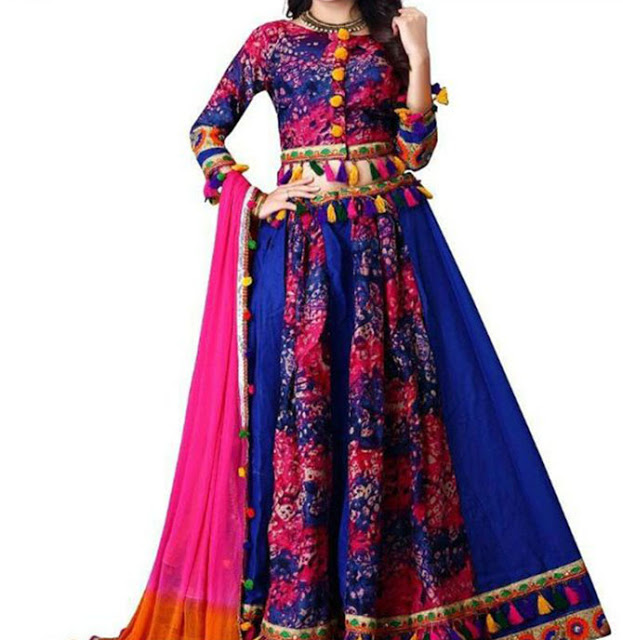 Digital Printed Embroidery Chaniya Choli