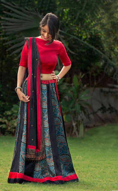 Simple and Sober Printed Chaniya Choli