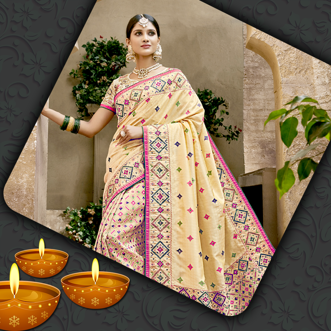 Buy Traditional Silk Saree Online for diwali