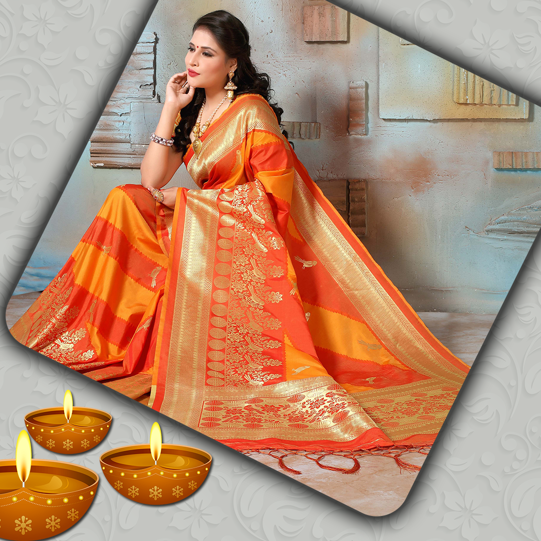 Traditional Silk Saree for festival and functions