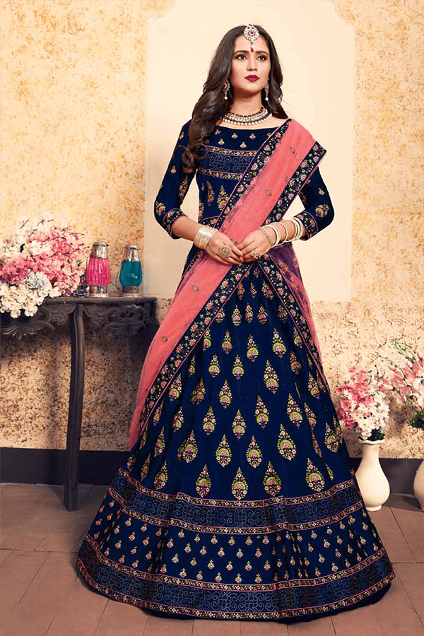 Traditional Fashionable Bridal Lehenga Cholis