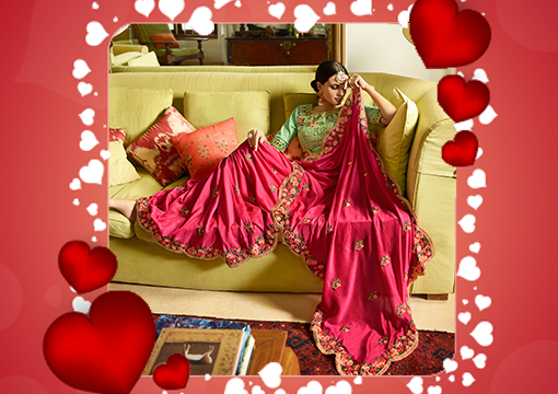 Valentine Day Special Sarees Gifts For Wife