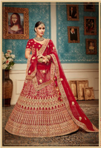 Captivating Red Color Lehenga Choli