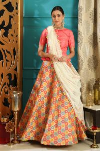 Delicious Pink Color Lehenga Choli Online