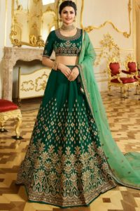 Dark Green Wedding Lehenga Choli