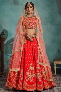 Marriage Special Red Art Silk Bridal Lehenga Choli
