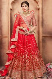 Net Red Traditional Lehenga Choli