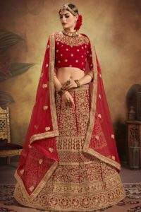 Red Designer Bridal Lehenga Choli