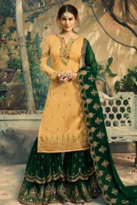 Satin Georgette Sharar Salwar Suit
