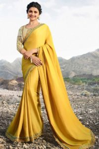 Yellow Color Soft Silk Festival Saree