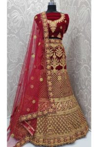 Bridal Lehenga Choli Maroon Color