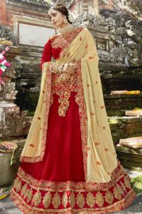 Red Georgette Lehenga Choli
