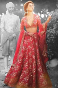 Red Thai Silk Bridal Lehenga Choli With Zari Work