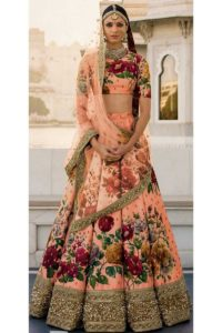 Semi-Stitched Fine Art Silk Bridal Lehenga Choli