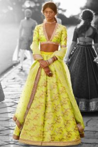 Designer Lehenga Neon Color For Wedding