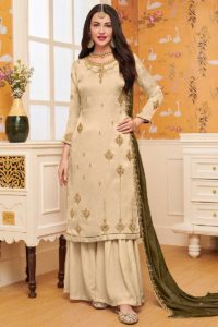 Georgette Sharara Salwar Suit