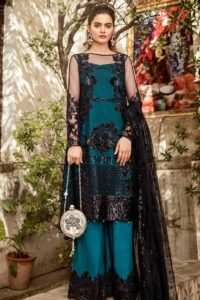 Net Pakistani Salwar Suit With Embroidery Work