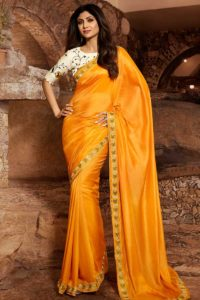 Comfort Wearing Satin Silk Designer Saree