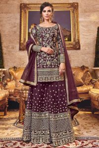 Palazzo Dress With Net Dupatta
