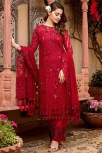 Red Color Georgette Pakistani Dress