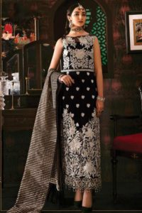 Pakistani Dress Embroidery Work In Black