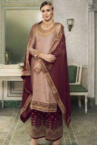 Satin Silk Straight Cut Palazzo Suit
