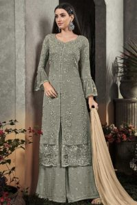 Palazzo Suit With Zari Embroidery Work