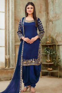 Royal Blue Punjabi Salwar Kameez