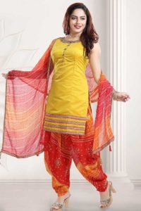 Yellow Color Punjabi Suit Design