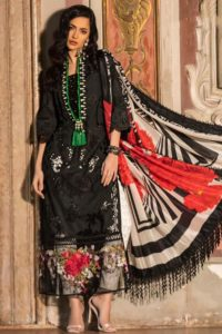 Black Lawn Digital Printed Eid Ethnic Wear