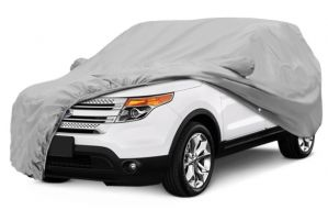 silver car body cover for Car